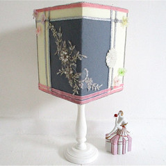 boudoir decorated lampshade.