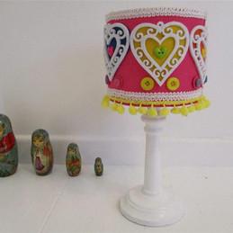 cute pink girls bedroom lampshade.