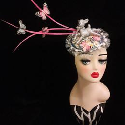 sparkly silver bambi hair accessory