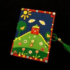 Notebook, journal, cute house journal,co