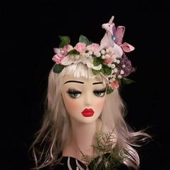 Unicorn Headdress with Flowers