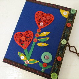 Decorated notebook, up-cycled journal, l