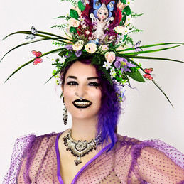 large bespoke floral fairy headdress.