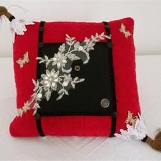 Red velvet cushion/Pillow, gift for Mom,