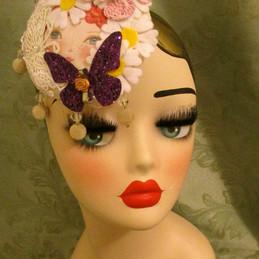 Kitsch Doll face fascinator