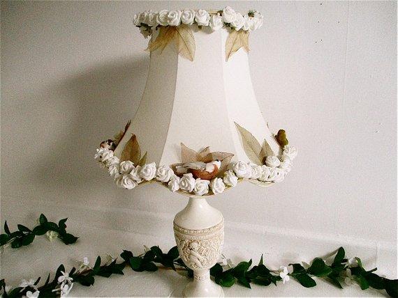Bespoke hand decorated lampshade