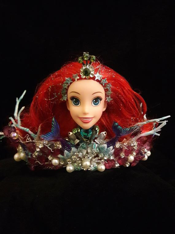 Ariel The Mermaid Crown, Tiara hair fascinator