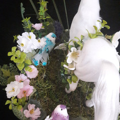 beautiful horse and bird ascot fascinator