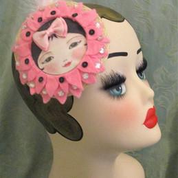 pink statement headpiece