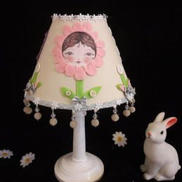 Cute Pink Hand Decorated Lampshade