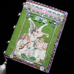 hand decorated bespoke green notebook