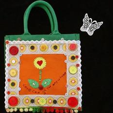 Unique bag, felt bag, embroidered bag, b
