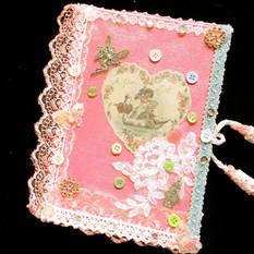journal gifts, Cherub notebook, handmade