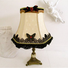 Hand Decorated Vintage Lampshade