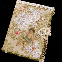 shabby chic gold hand decorated notebook