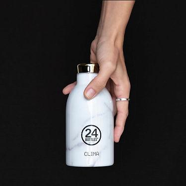 義大利 24Bottles 不鏽鋼雙層保溫瓶330ml_義大利大理石_01.jp