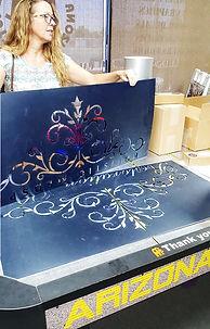 We make custom plastic stencils