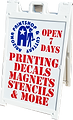 we do printing, custom decals, magnets, stencils