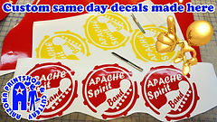 custom same day decals and stickers