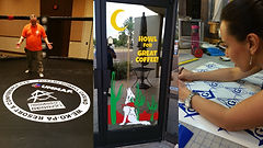 we do custom window graphics and boxing ring decals