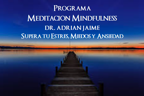"CURSO ONLINE: ""PROGRAMA MEDITACIÓN MINDFULNESS"""