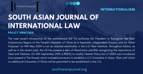 The Tibet Bill Passed by the US Congress and Its Politico-Legal Implications
