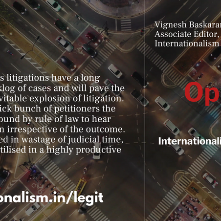 A fresh case for concern: Publicity interest litigation