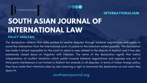 India's Diplomatic and Legal Aptitude Towards the International Court of Justice