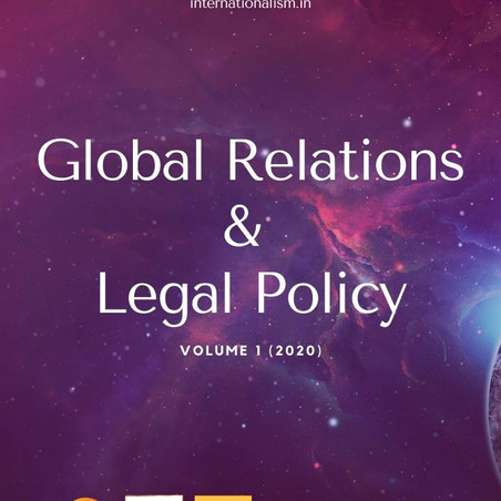 Global Relations and Legal Policy, Volume 1 (2020)