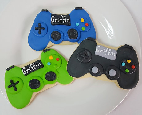 Video game controller cookie, x box controller, xbox controller cookie, x box controller cookie