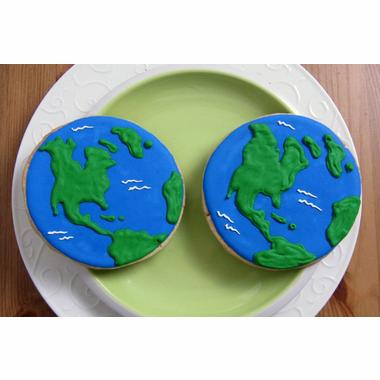 Earth cookies, Globe cookies, Earth Day cookies