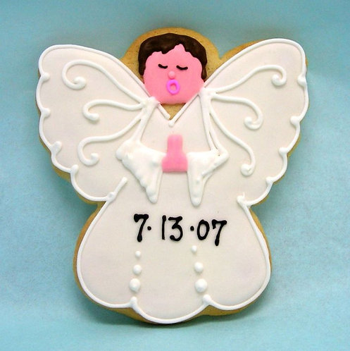 angel boy cookies, confirmation cookies, baptism cookies, boy baby shower cookies Los Angeles