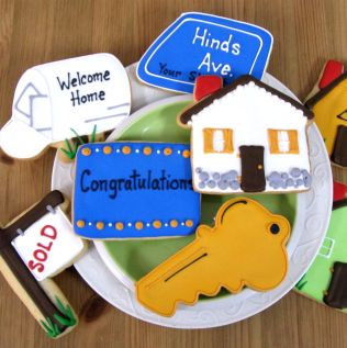 Real estate cookies, new home cookies, welcome home cookies, real estate cookies Los Angeles