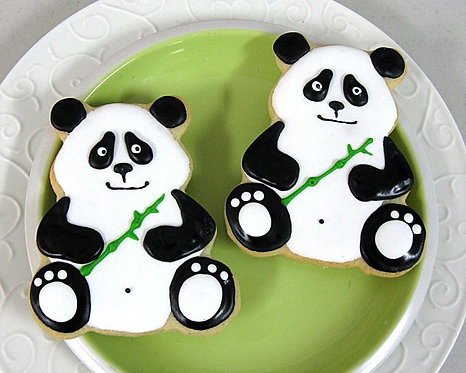 Panda bear cookies, Panda cookies Los Angeles, bear cookies