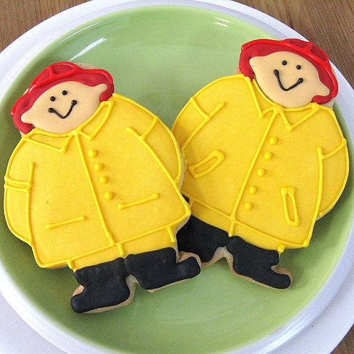 fireman cookies Los Angeles, fireman party favors, fireman party cookies, fire truck cookies