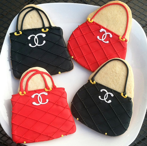 Handbag cookies, purse cookies, hand bag cookies, handbag cookies Los Angeles