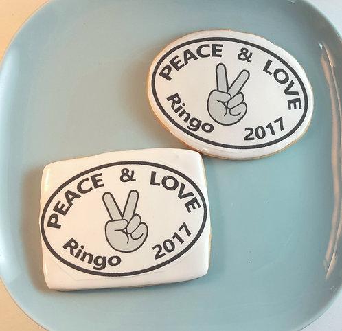 Ringo Starr, Ringo Starr cookies Los Angeles, Peace and Love, Peace and Love Los Angeles, Peace and Love cookies