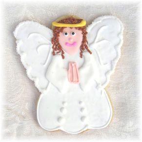 angel cookies Los Angeles, baptism cookies, confirmation cookies, baby shower angel cookies