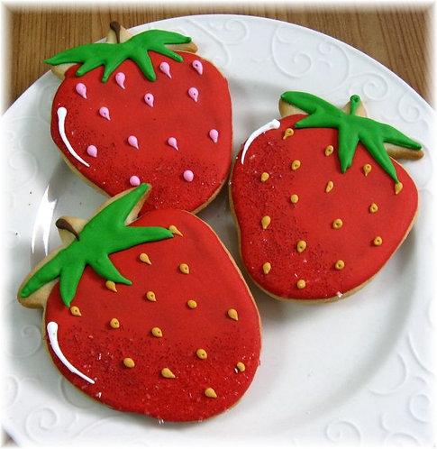 strawberry cookies Los Angeles, fruit cookies, strawberry shortcake cookies, strawberries