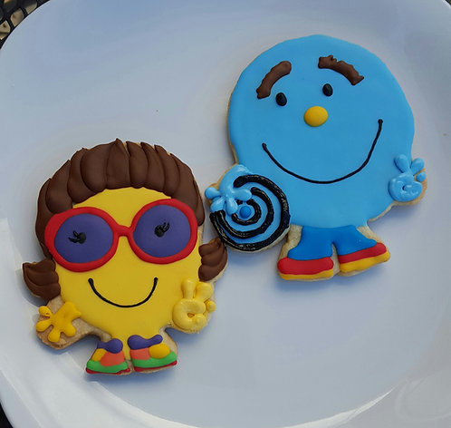 Custom character cookies, custom logo cookies, custom company cookies
