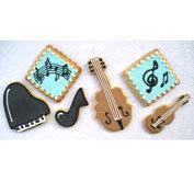 Piano cookies, violin cookies, music note cookies, cello cookies, musical notes, piano cookies Los Angeles