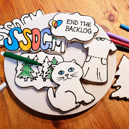 SSDGM cookies, cat cookies, tree cookies, Murderino cookies Los Angeles
