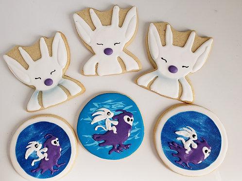 custom logo cookies, custom character cookies, image cookies, video game image cookies