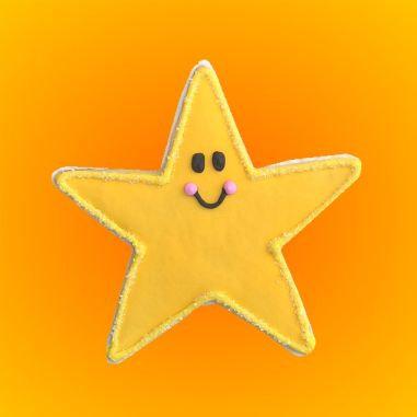 star cookie, star cookies Los Angeles, baby shower star cookie, twinkle twinkle little star cookies