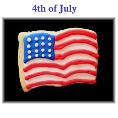 Flag cookie, flag cookies Los Angeles, Fourth of July cookies, patriotic cookies