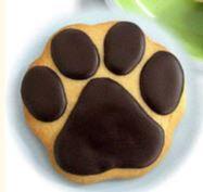 Dog paw print cookie, paw print cookie, paw cookie, dog paw cookie