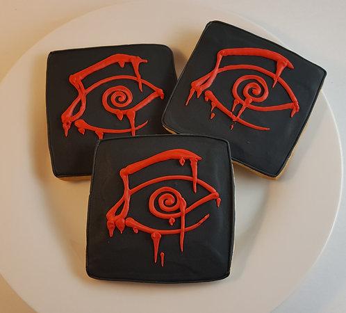 Custom logo cookies, custom cookies Los Angeles, video game cookies