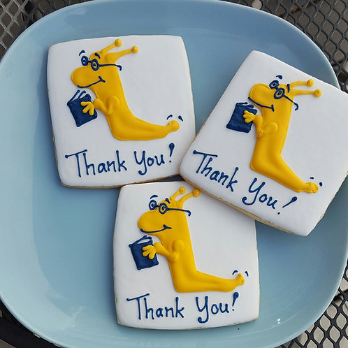 Banana slug cookies, Santa Cruz banana slug, UC Santa Cruz cookies, UC Santa Cruz