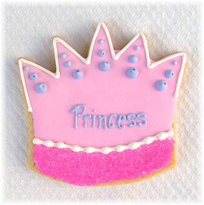 Princess crown cookies Los Angeles, princess party cookies, princess party Los Angeles