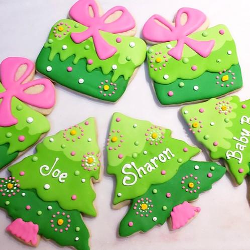 Christmas Tree Present Cookies